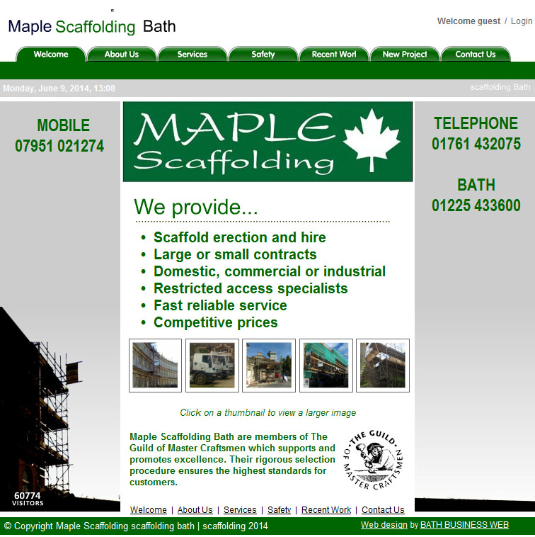 Maple Scaffolding